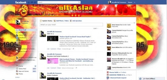Galatasaray Fanatik Facebook Teması Nasıl Yüklenir ?