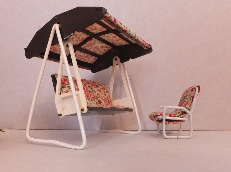 Vintage Carolines Home Dolls House Garden Swing & 1 Chair - Fits Lundby | eBay