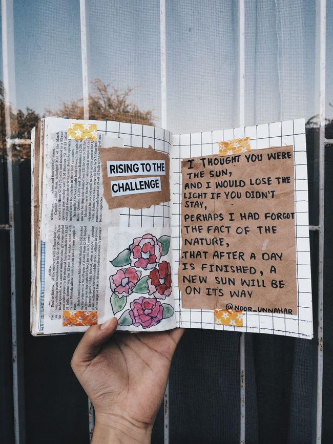 art journal entries + poetry from Noor Unnahar (aesthetically pleasing tumblr-like diy craft and quotes you gotta check)