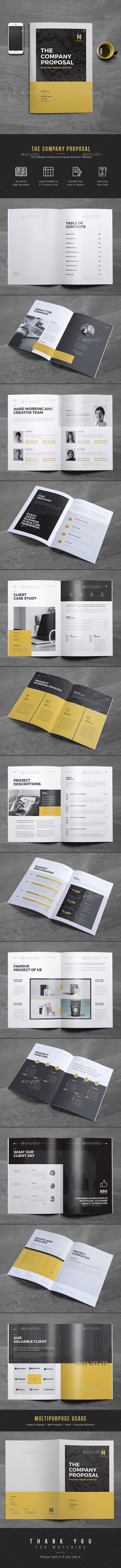Proposal Template InDesign INDD. Download here: https://graphicriver.net/item/proposal/17186705?ref=ksioks