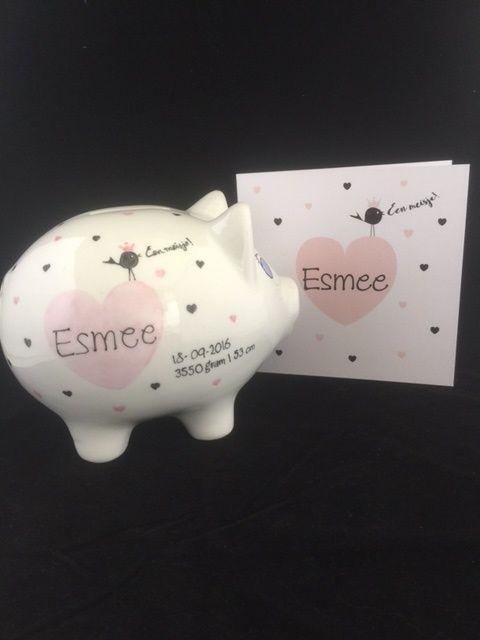 Geboortespaarvarken voor Esmee