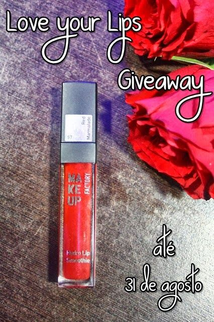 Flash's by Cinha Pacheco: Giveaway: Hydro Lip Smoothie Make Up Factory