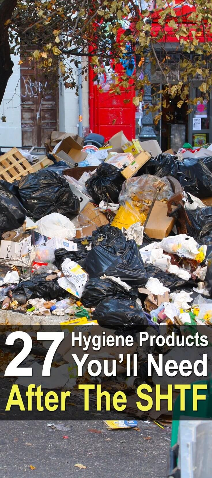 After a disaster, the level of hygiene will plunge due to a lack water, no sewage treatment plants, and no garbage collection. Get these hygiene items.  via @urbanalan