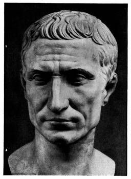 This is a sculpture of Julius Caesar (100-44 BC), a prominent figure in the disintegration of the Republic. He became sole-ruler of Rome during a time when Rome had abandoned the idea of Kings and Monarchies and created the idea of a Republic where there is no such thing as a sole-ruler. Because of his defiance he was assassinated by conspirators.