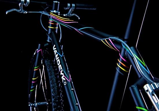 sharp mountain bike designBikes Design, Vandeyk Contemporary, Night Lights, Beautiful Bicycles, Bikes Obsession, Vandeyk Nightstream, Mountain Bikes, Lights Bicycles, Contemporary Cycling