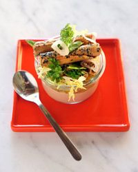 Barbecue Tempeh Sandwiches Contributed by Peter Berley      TOTAL TIME: 30 MIN     SERVINGS: 4      FAST     HEALTHY     STAFF-FAVORITE     VEGETARIAN  Tempeh is a fermented soybean cake with a mild, nutty flavor and texture similar to that of soft tofu. It's a great meat substitute and a very good source of fiber. Look for tempeh in the refrigerator case in the health-food section of large supermarkets.   Food & Wine