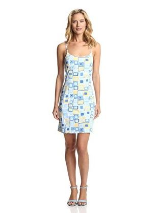 57% OFF J. McLaughlin Women's Lee Cami Dress (White/Yellow/Blue)