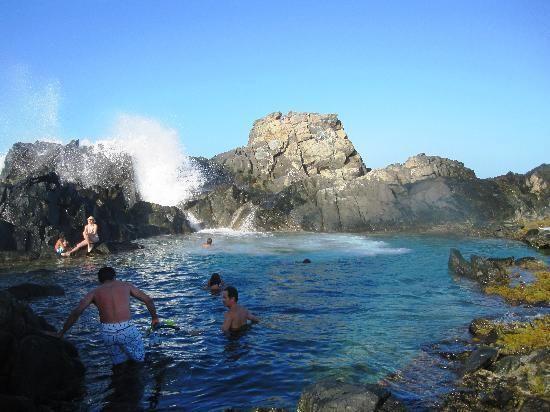 The Natural Pool in Aruba. Ah-mazing.