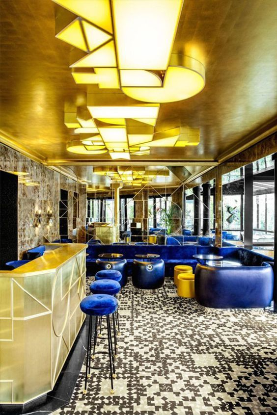 Designed By Interior Designer India Mahdavi In Collaboration With Graphic Design Team M Cafe Francais Is The Definition Of French Glamour And