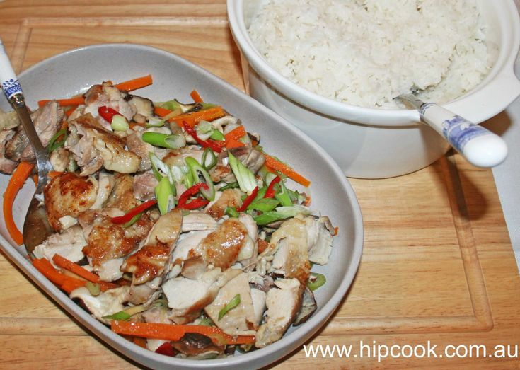 My yummy simple Chinese chicken, cooks in varoma while rice is cooking in thermomix
