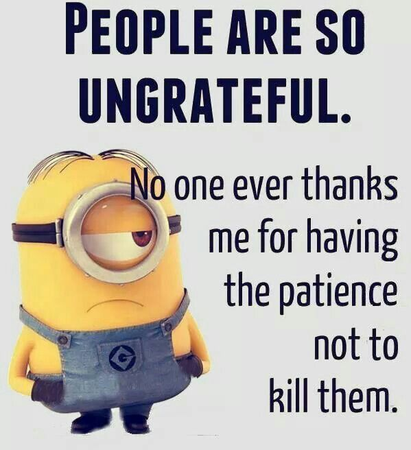 Minions Quotes Funny Sayings People Are So Ungrateful Inspirational