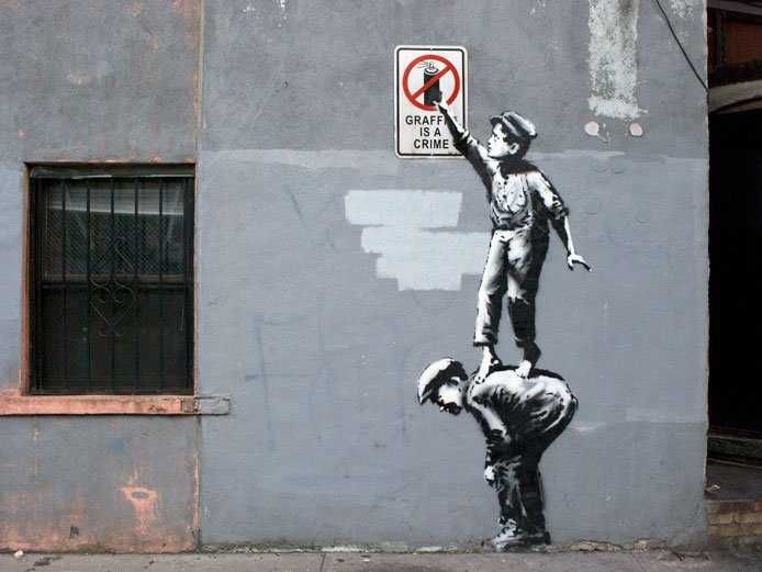 Graffiti Artist Banksy Has Popped Up In New York City