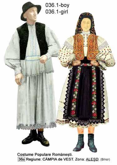 Alesd, Bihor, Crisana, Romanian folk costume