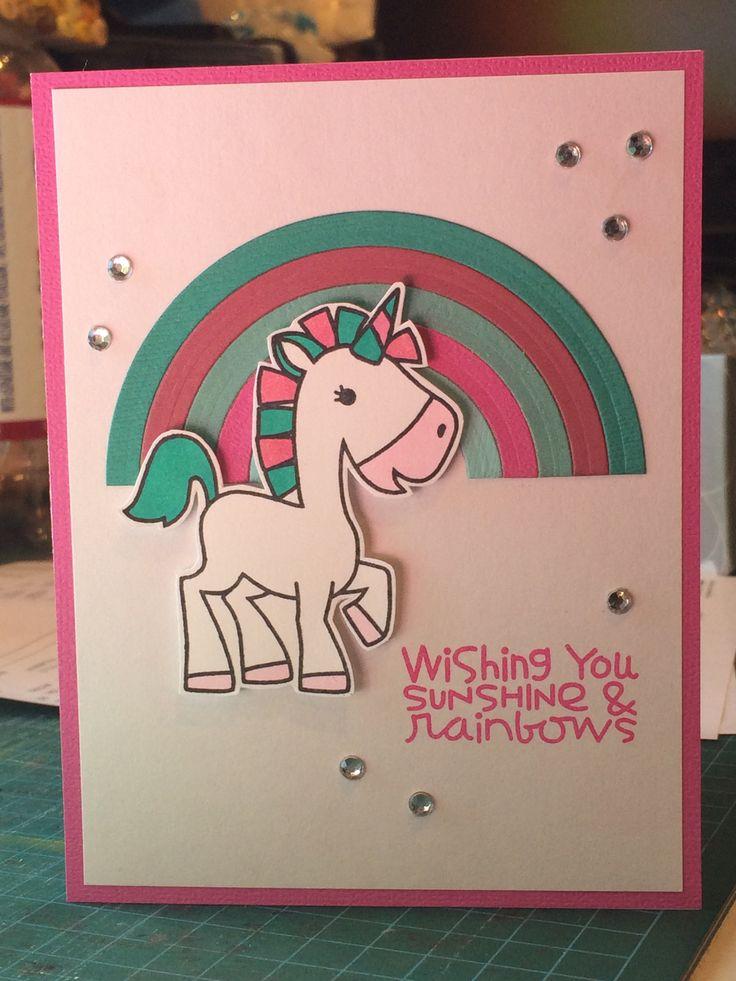 paper smooches spectrum diy girl birthday card unicorn