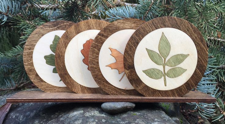 For any time of year, our inlaid leaves wood coasters make a great gift.  Our attention to detail is shown in the intricacy of the inlay.