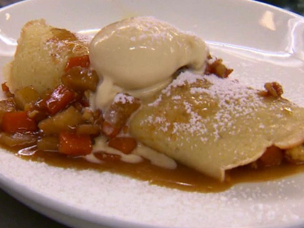 Roasted Butternut Squash, Sauteed Apples and Toasted Walnut Crepes wi ...