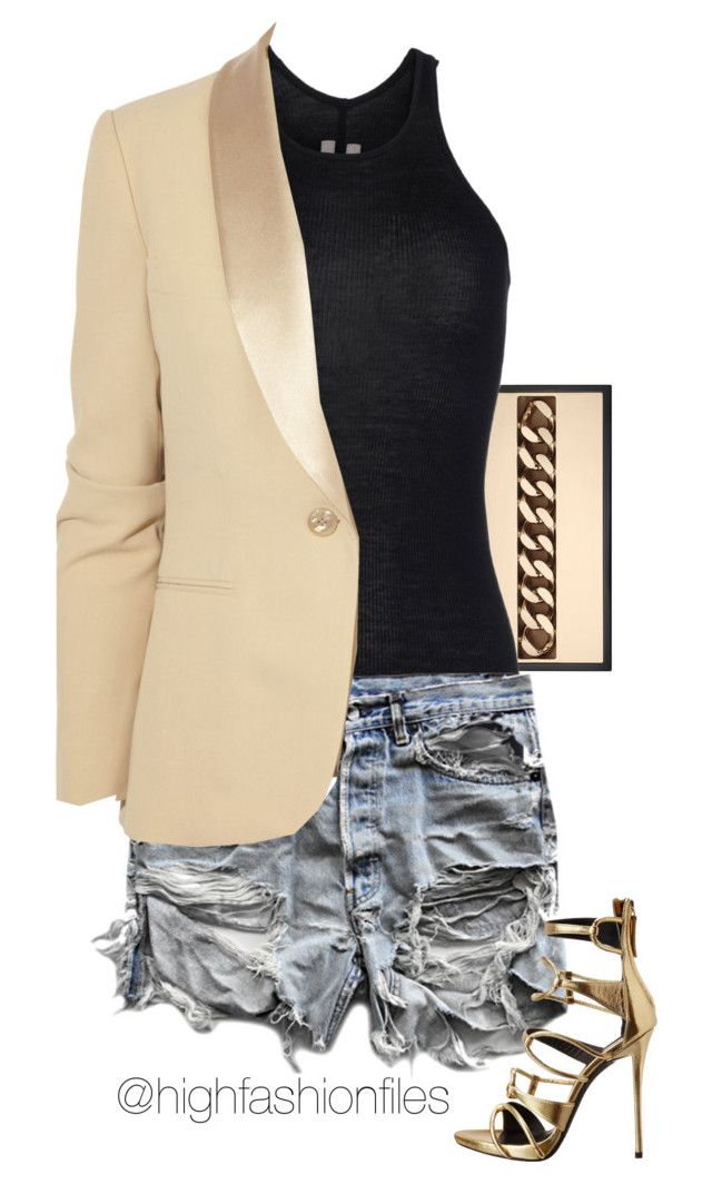Menswear Inspired by highfashionfiles on Polyvore featuring Rick Owens, Ralph Lauren Black Label, Giuseppe Zanotti and Jimmy Choo