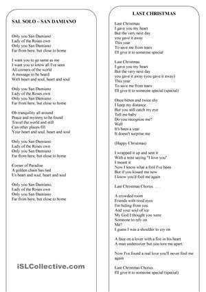 Christmas - the lyrics of 8 the best christmas songs and carols