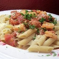"Penne with Shrimp I ""My hubby, son and I all loved this! Light but very tasty! """