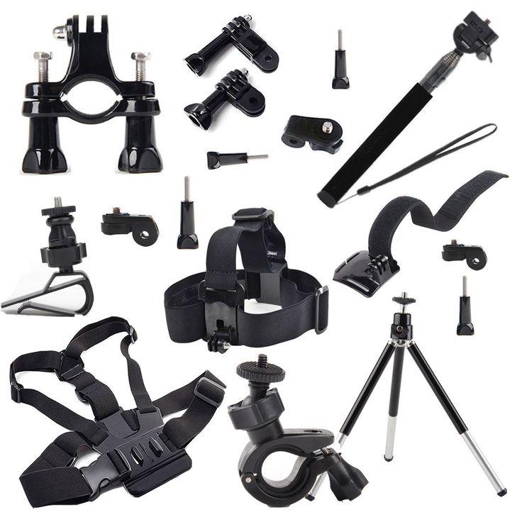 NO FREIGHT FEE - Wrist Head Chest Mount Accessories  Kit for Sony Action Cam FDR-X1000V W 4K HDR-AS30V HDR-AS100V HDR-AZ1 Mini Kit AS15 AS20 AS10 !