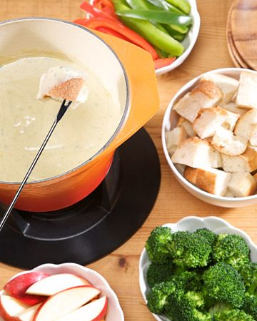 """Irish Blue Cheese Fondue ~ This Recipe is a deliciously fun dish to serve on St Patrick""""s Day"""