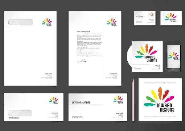 Inward Designs Corporate Identity - Kop Surat Desain Elegan