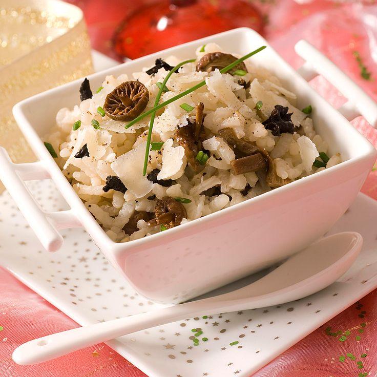 Découvrez la recette du risotto aux champignons et au jus de truffes