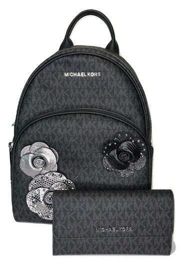 88610f558512 Michael Kors Abbey and Matching Wallet Signature Mk Admiral Leather  Backpack. Get one of the hottest styles of the season! The Michael Kors  Abbey and ...