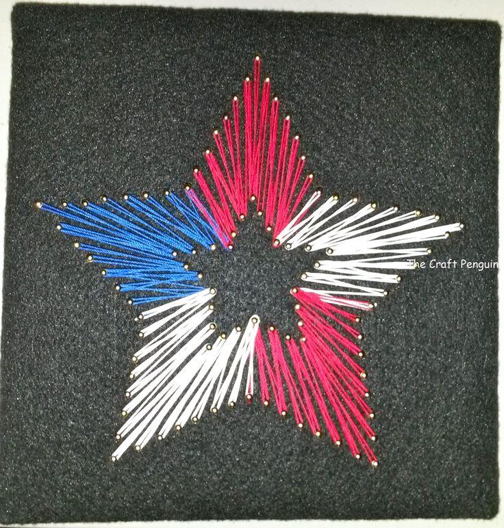 star String Art | American Flag Star string art