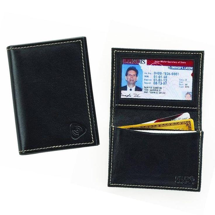 Lewis N Clark Mens Card ID Holder Leather RFID Blocking Wallet Card Security New