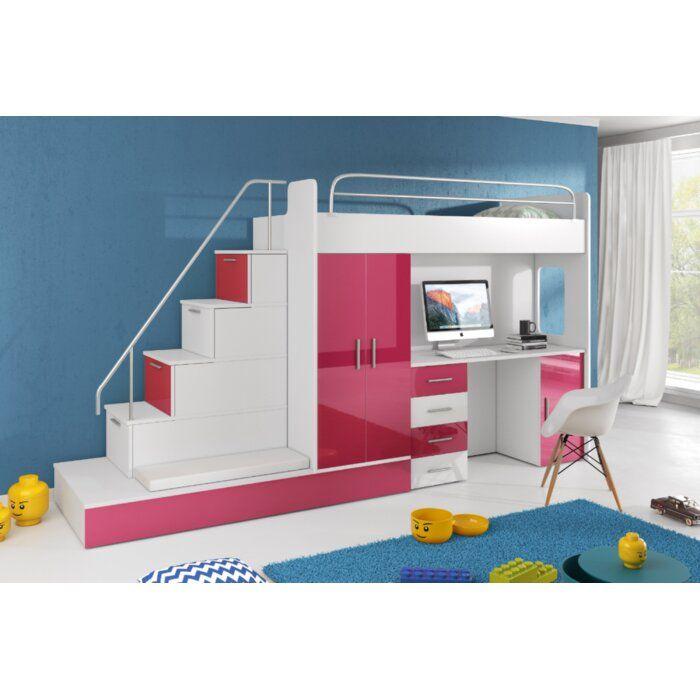 Murcia Hochbett Schlafzimmer Set In 2020 Etagenbett Schreibtisch