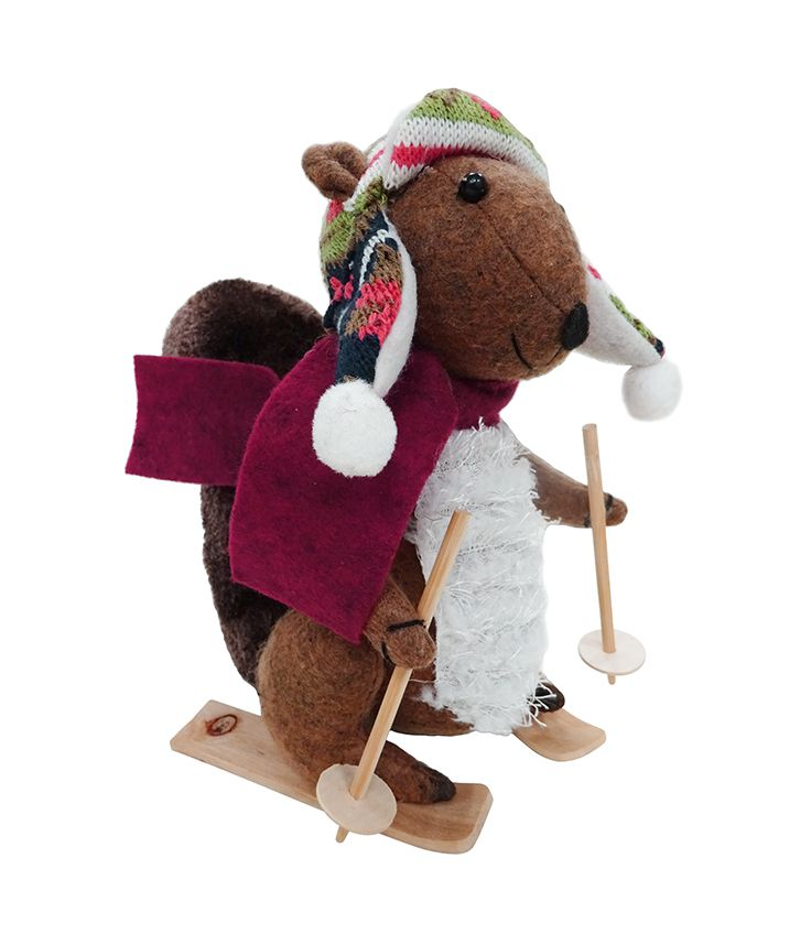 Skiing squirrel hits the slopes. $23.99 Puppet Heaven 703-414-7885