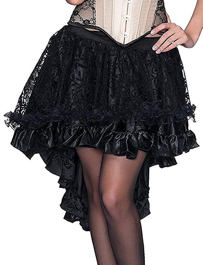 f294582ae2 Burvogue Femme Casual Élégant Steampunk Vintage Jupe: Amazon.fr: Vêtements  et accessoires
