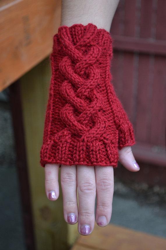 knit wrist warmer