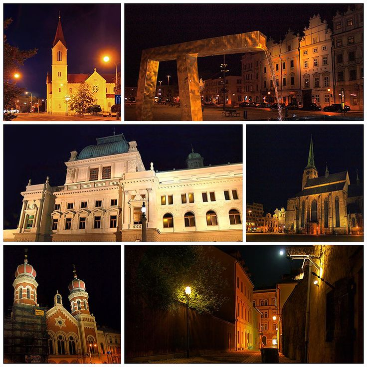Plzeň | Pilsen ve městě Plzeňský - Divadlo J.K.Tyla, naštěstí Republiky, Synagoga, chrám sv. Bartoloměje