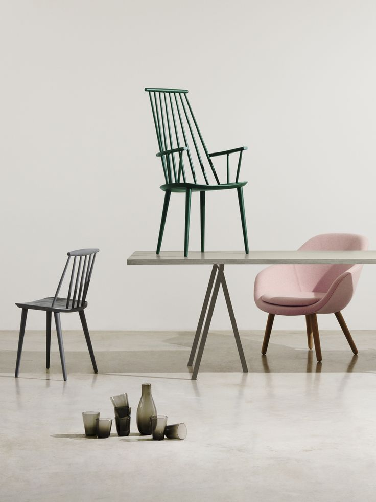 FDB Chairs, Loop Stand Table, About a Lounge Low and Tela Tableware | www.hayonlinewinkel.com