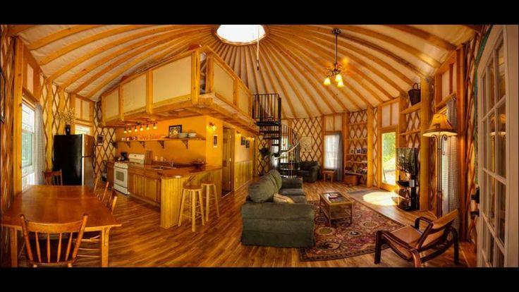 Cool yurt interior yurts pinterest yurt interior for Yurt interior designs