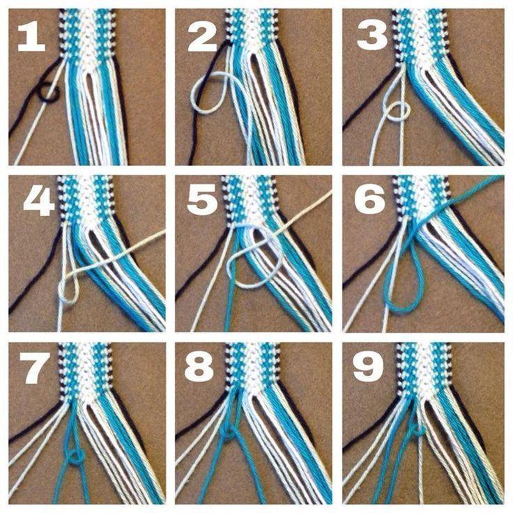 DIY Macrame Bracelets Ideas 6 #armbander # ideas #macrame #armbander #ideas #id …