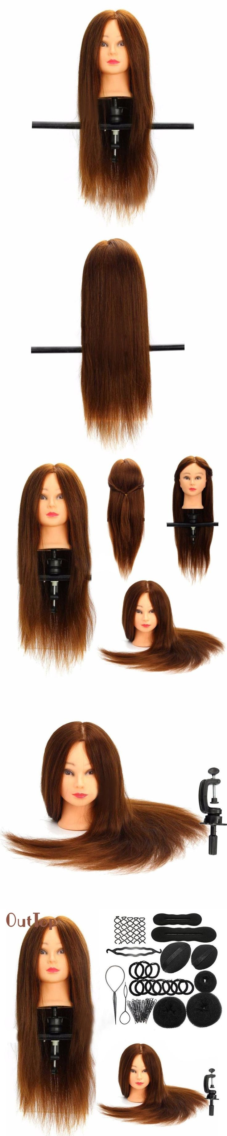 Beauty Girl Hot Fashion Hairdressing Training Model Practice Head + Braid Sets 11.21