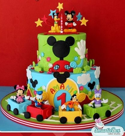 20+ Top Mickey Mouse Birthday Cakes Ideas | Single and Clubhouse