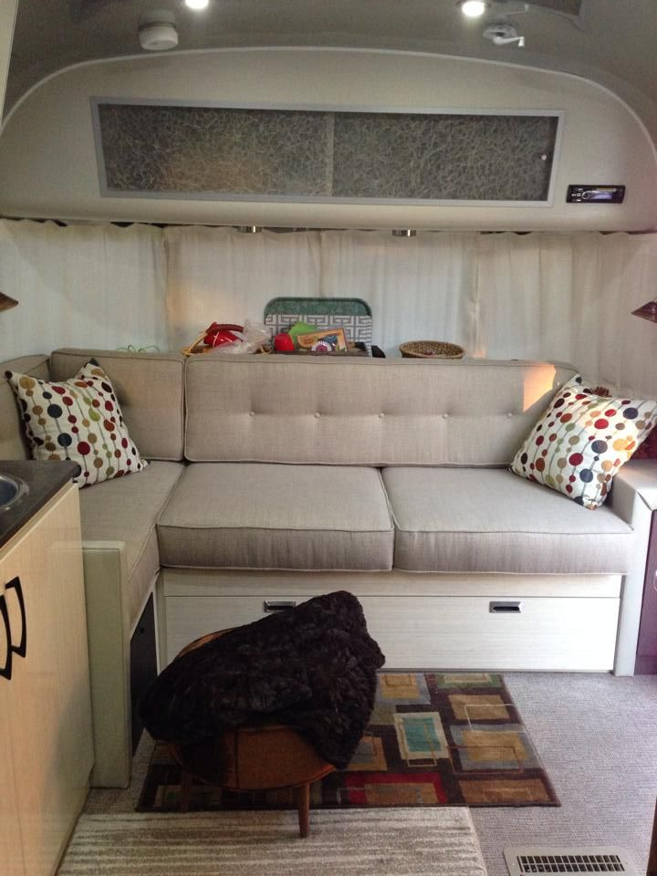 L Seating Soon To Be History Page 2 Airstream Forums Cushions On Sofa Camper Cushions Vintage Airstream