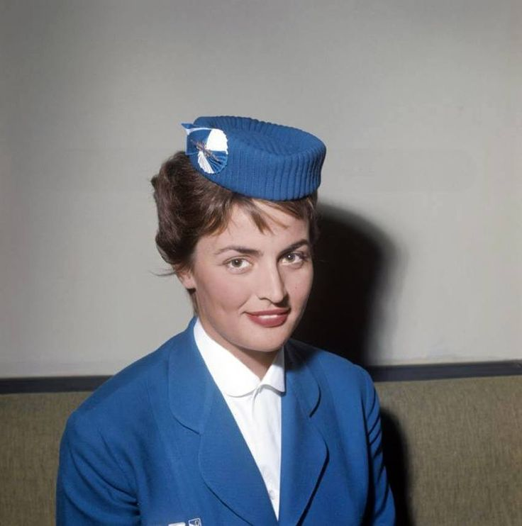 Olympic Airways,first uniform designed by Greek designer based in Paris, Jean Desses(1957-1966)