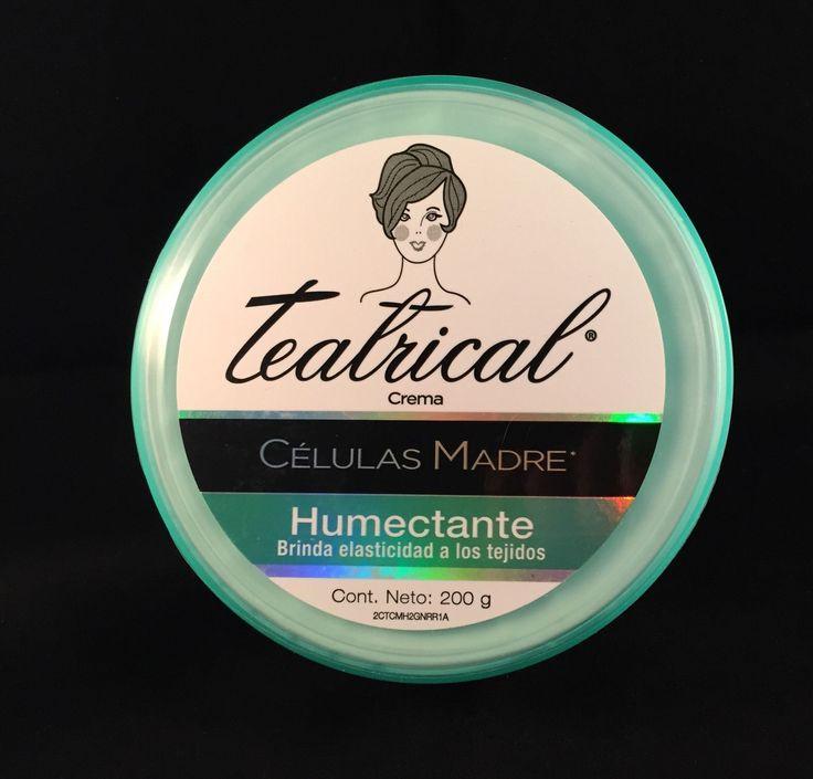 Teatrical Células Madre Crema Humectante 200 gms.  Rejuvenece y brinda elasticidad a los tejidos, desvaneciendo estrías y cicatrices.