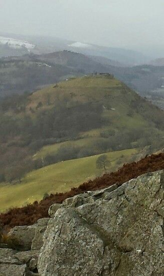 Looking back to Dinas bran castle
