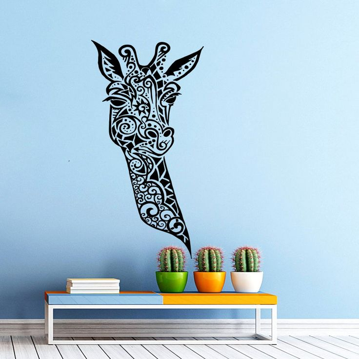 Giraffe Vinyl Wall Decal Giraffe Animals Jungle Safari African Animal Mural Art Wall Sticker Removeable Bedroom Home Decoration-in Wall Stickers from Home & Garden on Aliexpress.com   Alibaba Group