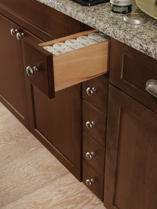 Thomasville Cabinetry S Spice Drawers Fit In Those Tight