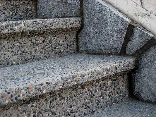 I love exposed aggregate concrete