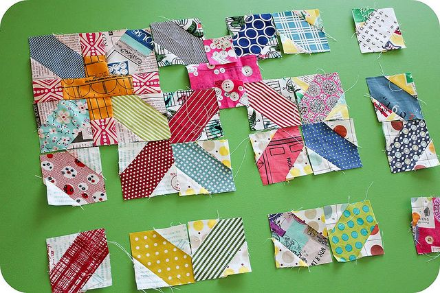 Bee Traditional Test blocks by badskirt, via Flickr