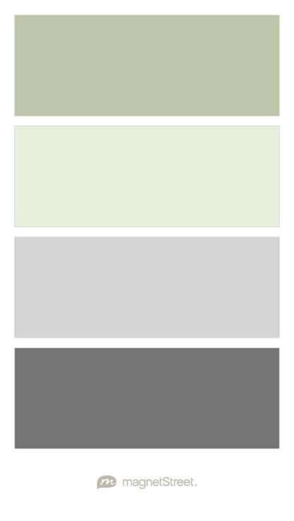 Sage, Mint, Silver, and Charcoal Wedding Color Palette - custom color palette created at MagnetStreet.com