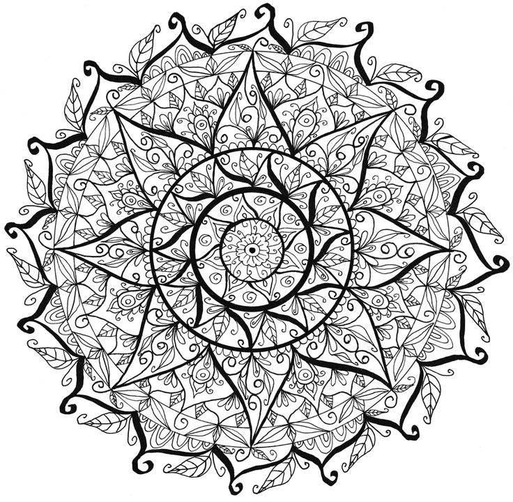 2307 best mandala images on Pinterest Coloring books Coloring